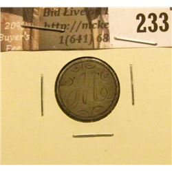 1891 U.S. Liberty Seated Dime Love Token reverse. VF.
