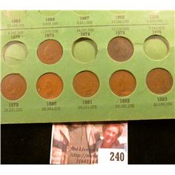 "Indian Cent Set in an old Wayte Raymond holder, Good & Better, 1879-1909, no ""S"" mint marks, but als"