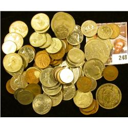 Silver Mercury Dime; (9) Foreign Coins including Silver; $2.45 face Canada .800 or .925 Fine silver