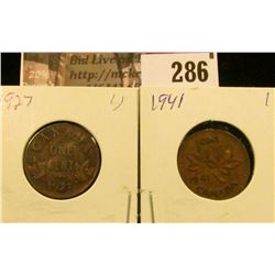 1927 & 1941 Canada Small Cents, EF.