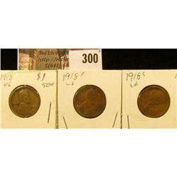 1918P, D, & S Lincoln Cents.