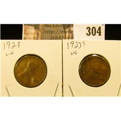1923 P & S Lincoln Cents.