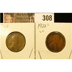 1928 P & S Lincoln Cents.