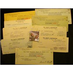 (8) Old uncancelled/cashed Checks with face value under $1.00.