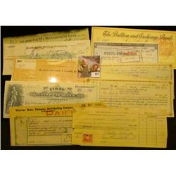 """Old Check lot dating back to 1886. Includes 1929 Check for $3,500 drawn on """"Amador County Developmen"""