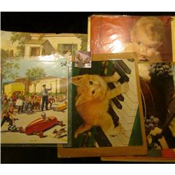 Large group of old Yellow Stone National Park Post Cards; 1959 Calendar Art work Print; Art Auction