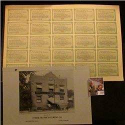 """# 247 Preferred Stock Certificate with bond coupons from """"Steril Manufacturing Company"""" memorabilia"""