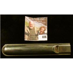 Metal train whistle! Go to the local depot, let it rip, watch folks look around for the coming train
