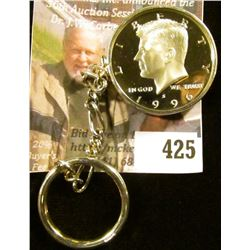 Coin key ring – 1996-S Silver Proof Kennedy Half in a sterling bezel, this was actually a US Mint pr