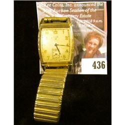 Elgin 554 15 jewels wristwatch, estimated production year 1951. Stem is gone, needs repairs, good fo