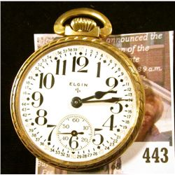 Elgin 575 15 jewels red number pocket watch, estimated production year 1947. Runs, keeps time, missi