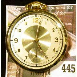 Waltham 217 pocket watch, 17 jewels, Runs, keeps time. Estimated production date 1937. Attractive Ar