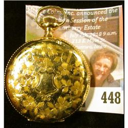 """Waltham """"Seaside"""" 15 jewels pocket watch, estimated production date 1899. Runs and keeps time, decor"""