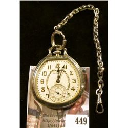 Hamilton 912 17 jewels pocket watch in an odd-shaped case. Estimated production date 1926. Runs and