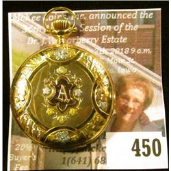 Elgin 109 7 jewel pocket watch, 14K gold case (marked on both dust cover plates). The outer case has