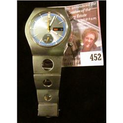 VERY RARE Seiko 6139-8029 men's day/date chronograph, totally original case, works and band, early 1