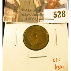 1880 Indian Head Cent, XF details, obverse divot, XF value $30