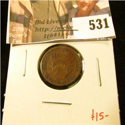 1884 Indian Head Cent, VF30, value $15