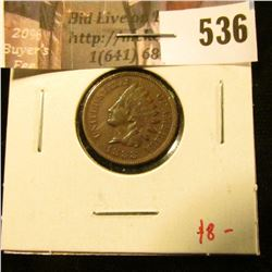 1888 Indian Head Cent, VF+, value $8
