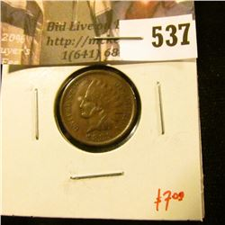 1889 Indian Head Cent, VF, value $7