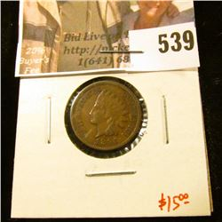 1891 Indian Head Cent, XF, value $15
