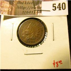 1892 Indian Head Cent, VF, value $8