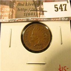 1898 Indian Head Cent, XF, value $15