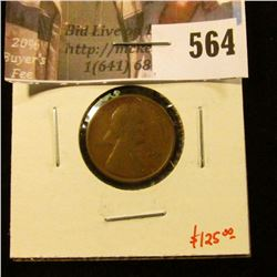 1909-S Lincoln Cent, F, key date! value $125