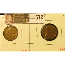(2) Lincoln Cents, 1915-D G & 1915-S G, value for pair $22