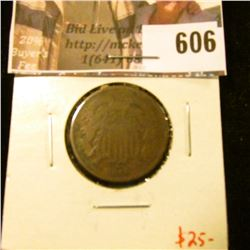 1869 2 Cent Piece, G, value $25