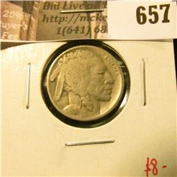 1916 Buffalo Nickel, F, value $8