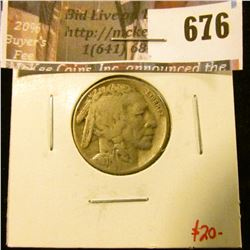 1931-S Buffalo Nickel F, value $20