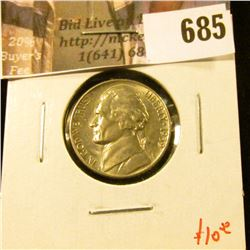 1939 Jefferson Nickel, BU, value $10