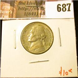 1939-S Jefferson Nickel, AU, key date, value $10