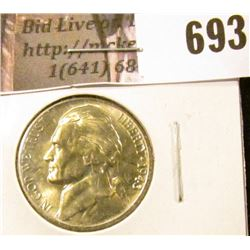 1943-D Jefferson Nickel, BU, MS63 value $12, MS65 value $20