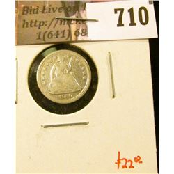 1856 Seated Liberty Half Dime, VG, value $22