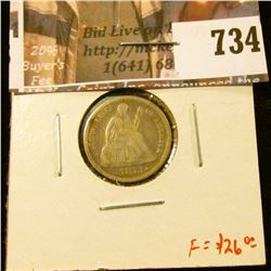 1873 arrows Seated Liberty Dime, VG/F, F value $26