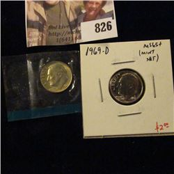 (2) Roosevelt Dimes, 1969-D & 1979-P, both BU from Mint Sets, value $4+
