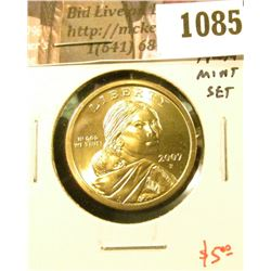 1085 . 2007-P Sacagawea Dollar, BU from Mint Set, value $5+