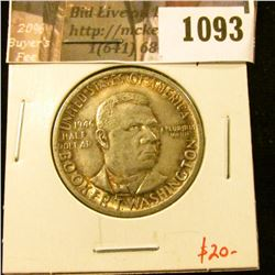 1093 . 1946 Booker T. Washington Commemorative Half Dollar, AU tone