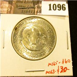 1096 . 1953-S Washington-Carver Commemorative Half Dollar, UNC, MS6