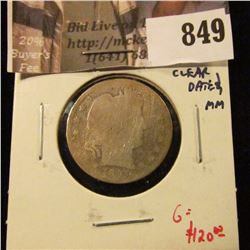 1897-S Barber Quarter, AG, worn, clear date and mint mark, TOUGH date, LOW MINTAGE, bid accordingly,
