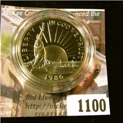 1100 . 1986-S Statue of Liberty Commemorative Half Dollar, Proof in