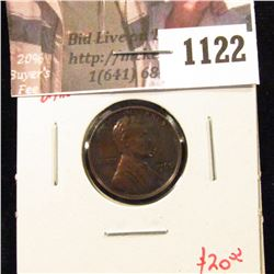 1122 . 1960 Small Date Lincoln Memorial Cent, Proof, toned, value $