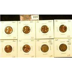 1123 . (8) Proof & SMS proof-like Lincoln Memorial Cents, 1959-1964