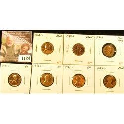 1124 . (7) Proof Lincoln Memorial Cents, complete date run 1968-S t