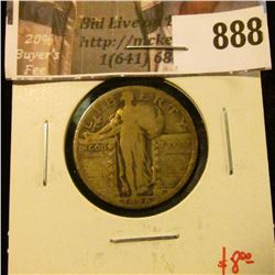 1928 Standing Liberty Quarter, VG, value $8