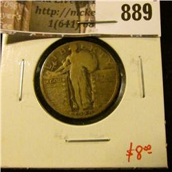 1929 Standing Liberty Quarter, VG, value $8