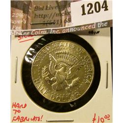 "1204 . (2) Tailed Kennedy Half Dollar ""Magician"" or ""Flipping"" Coin"