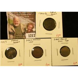 1217 . ERROR – 3 Lincoln cents and a Roosevelt Dime – 1994-D & 1997